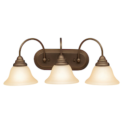 Kichler Brushed Nickel Two Light Down Lighting 24In. Wide Bathroom Fixture