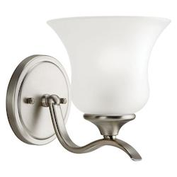Kichler Brushed Nickel Wedgeport Fluorescent Energy Efficient 1 Light Wall Sconce