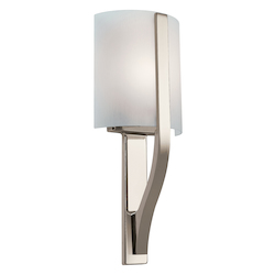 Kichler Polished Nickel Modern Single Light Fluorescent Wall Sconce