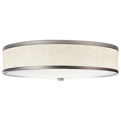 Kichler Champagne 3 Light 22In. Wide Flush Mount Ceiling Fixture