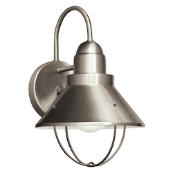 Kichler Nickel Seaside 1 Light 12