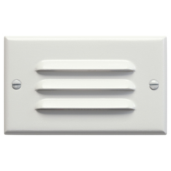 Kichler White Functional 2.75In. X 4.5In. Horizontal Louver Step Light