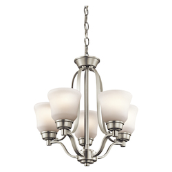 Kichler Kichler 1788Ni Brushed Nickel Langford Single-Tier  Chandelier With 5 Lights