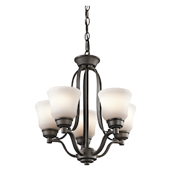 Kichler Five Light Olde Bronze Up Mini Chandelier