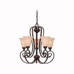 Kichler Five Light Tannery Bronze Up Mini Chandelier
