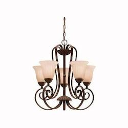 Kichler Five Light Tannery Bronze Up Chandelier