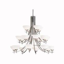 Kichler Kichler 1861Ap Antique Pewter Olympia 3-Tier  Chandelier With 20 Lights