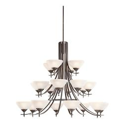 Kichler Twenty Light Olde Bronze Up Chandelier