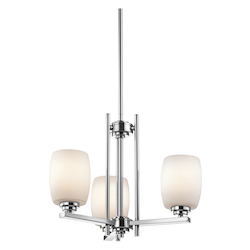 Kichler Three Light Chrome Up Mini Chandelier