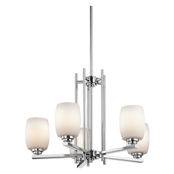 Kichler One Light Chrome Up Chandelier