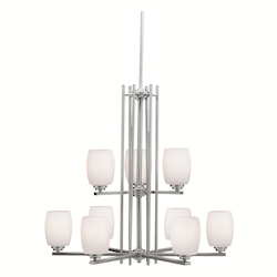 Kichler Kichler 1897Ni Brushed Nickel Eileen 2 Tier Chandelier With 9-Lights