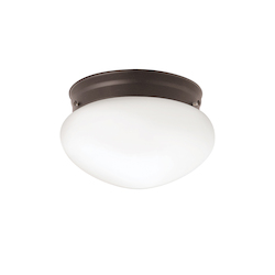 Kichler One Light Olde Bronze Mushroom Flush Mount 12 Pack