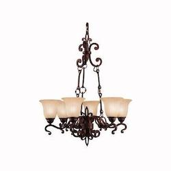 Kichler Kichler 2089Cz Carre Bronze Wilton Single-Tier  Chandelier With 6 Lights