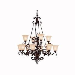 Kichler Kichler 2092Cz Carre Bronze Wilton 2-Tier  Chandelier With 12 Lights