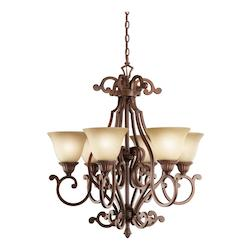 Kichler Tannery Bronze With Gold Larissa Single-Tier  Chandelier With 6 Lights