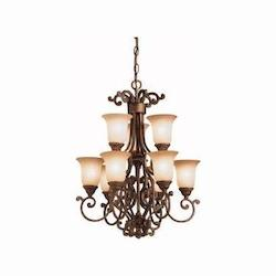 Kichler Tannery Bronze With Gold Larissa 2-Tier Mini Chandelier With 9 Lights