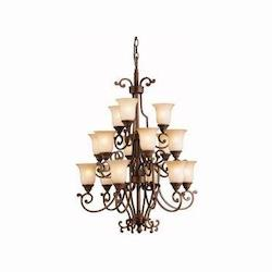 Kichler Tannery Bronze With Gold Larissa 3-Tier  Chandelier With 15 Lights