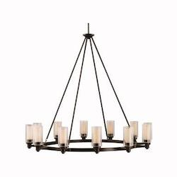 Kichler Twelve Light Olde Bronze Up Chandelier