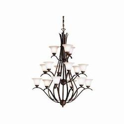 Kichler Fifteen Light Tannery Bronze Up Chandelier