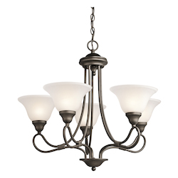 Kichler Five Light Olde Bronze Up Chandelier