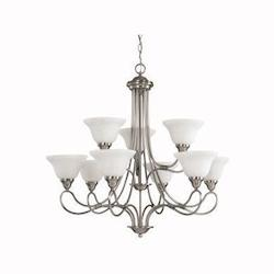 Kichler Kichler 2558Ap Antique Pewter Stafford 2-Tier  Chandelier With 9 Lights