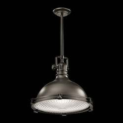 Kichler Olde Bronze Hatteras Bay Pendant Light With Metal Shade - 24In. Wide