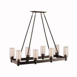 Kichler Eight Light Olde Bronze Island Light