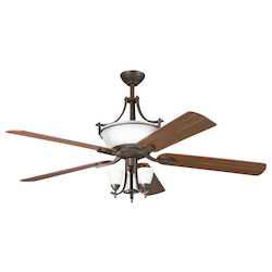 Kichler Six Light Olde Bronze Ceiling Fan