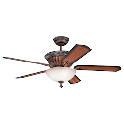 Kichler Mediterranean Walnut Ceiling Fan