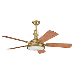 Kichler Burnished Antique Brass Ceiling Fan