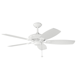 Kichler White 52In. Indoor Ceiling Fan With 5 Blades - Includes 6In. Downrod