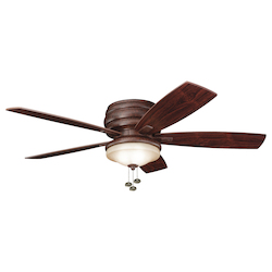 Kichler Three Light Tannery Bronze Outdoor Fan