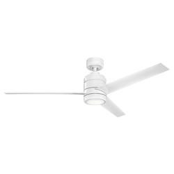 Kichler Kichler 300146Wh White Arkwright 3 Blade Indoor Ceiling Fan