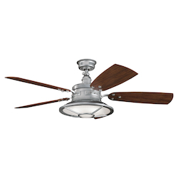 Kichler Galvanized Steel 52In. Outdoor Ceiling Fan With 5 Blades