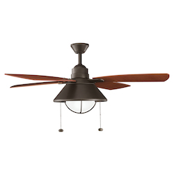 Kichler Olde Bronze 54In. Outdoor Ceiling Fan With 4 Blades