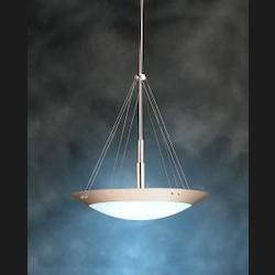 Kichler Brushed Nickel Structures 3-Bulb Indoor Pendant With Bowl-Shaped Glass Shade