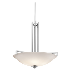 Kichler Four Light Chrome Up Pendant