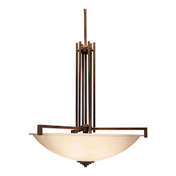 Kichler Four Light Olde Bronze Up Pendant