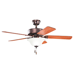 Kichler Two Light Oil Brushed Bronze Ceiling Fan