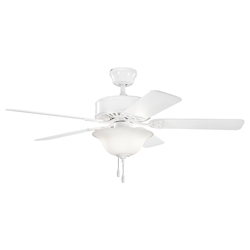Kichler Two Light White Ceiling Fan