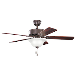Kichler Three Light Tannery Bronze Ceiling Fan