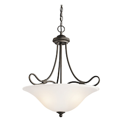 Kichler Three Light Olde Bronze Up Pendant