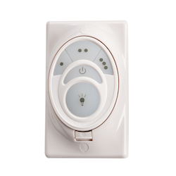 Kichler White Material (Not Painted) Fan Wall Mount Control