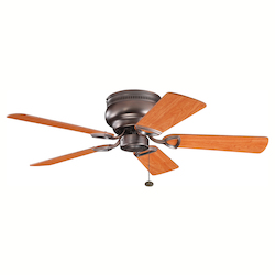 Kichler Oil Brushed Bronze Hugger Ceiling Fan