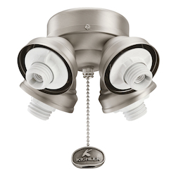 Kichler Four Light Antique Pewter Fan Light Kit