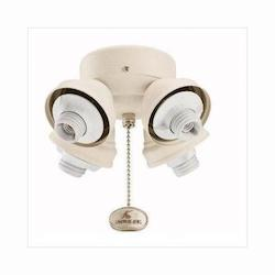 Kichler Four Light Satin Natural White Fan Light Kit
