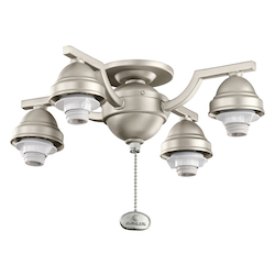 Kichler Open Box Four Light Brushed Nickel Fan Light Kit