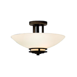 Kichler Two Light Olde Bronze Bowl Semi-Flush Mount