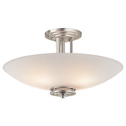Kichler Brushed Nickel Hendrik 4 Light Semi-Flush Indoor Ceiling Fixture