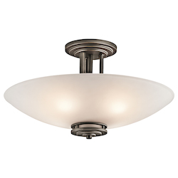 Kichler Four Light Olde Bronze Bowl Semi-Flush Mount